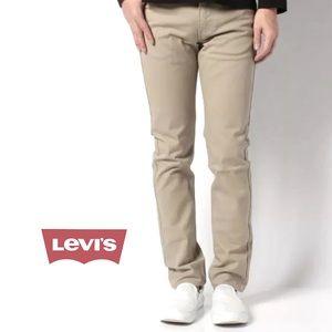 Levi's 510 men skinny beige jeans W28 L32 NWT